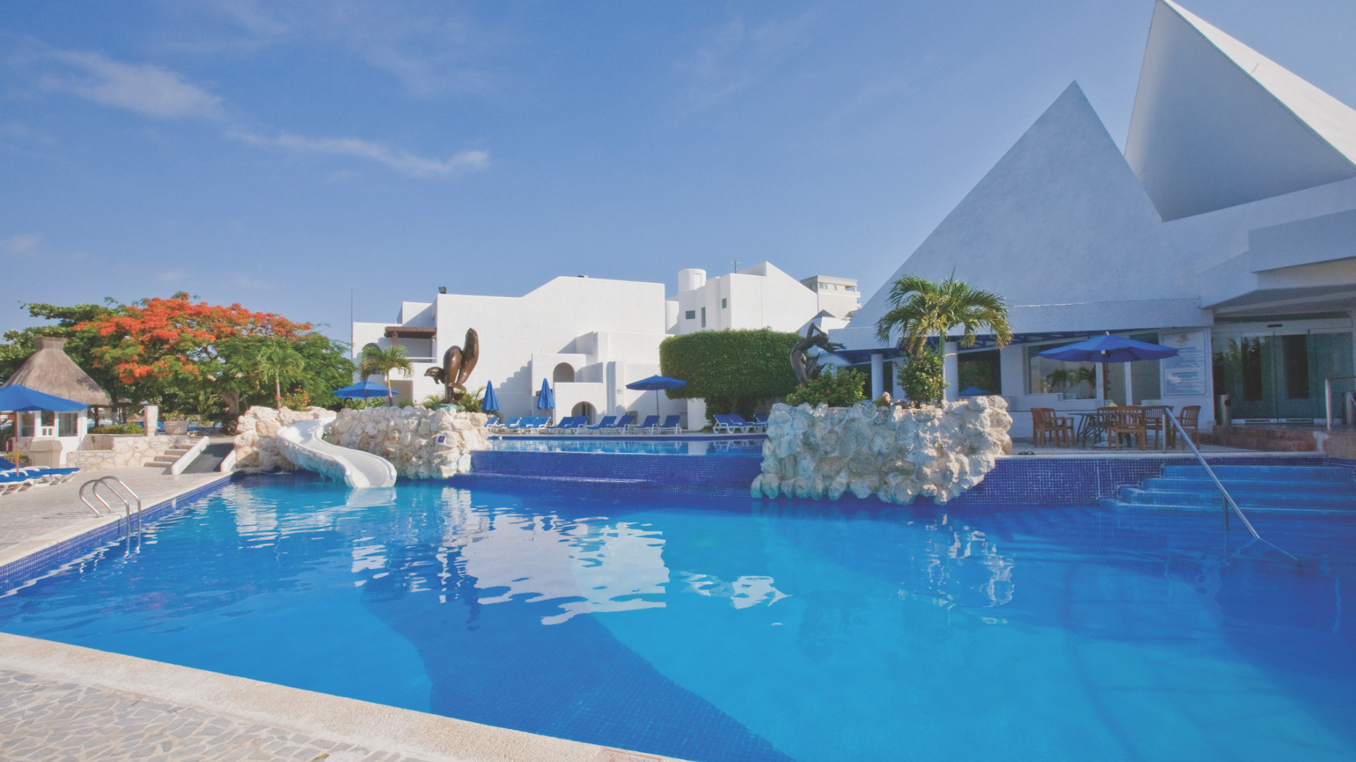 Share Cancun - Hoteles - Sunset Marina Resort & Yacht Club   Alberca Frente